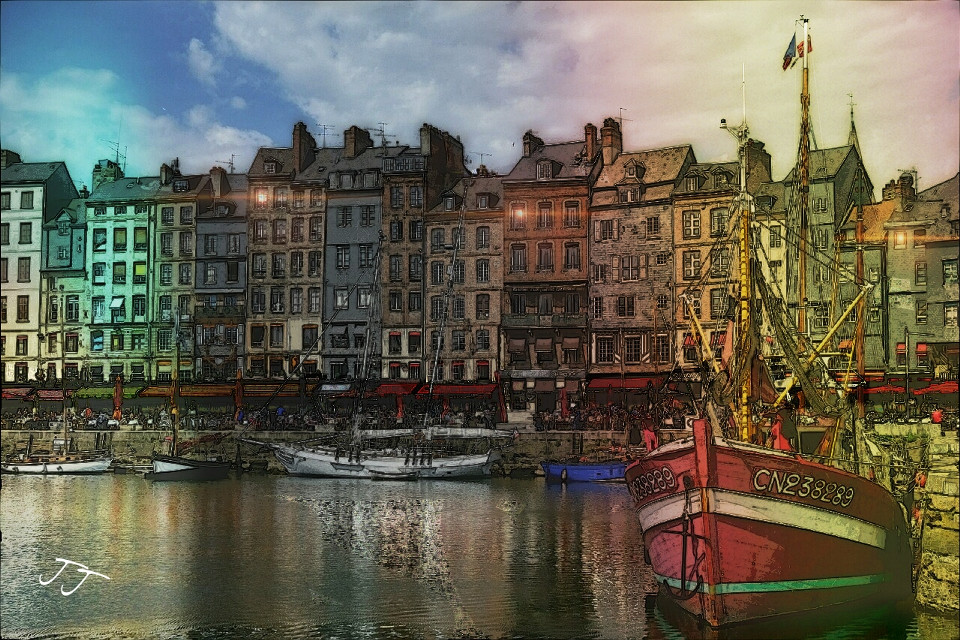 #city #colorful #water #seascape #boats