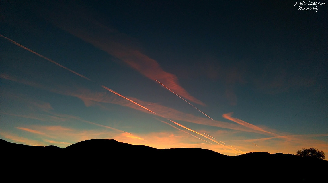 #sky  #sunset #colorful #photography #marks
