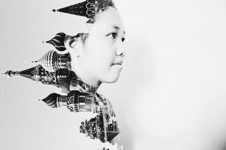 Original, made by myself 😊 #doubleexposure #blackandwhite #p #photography