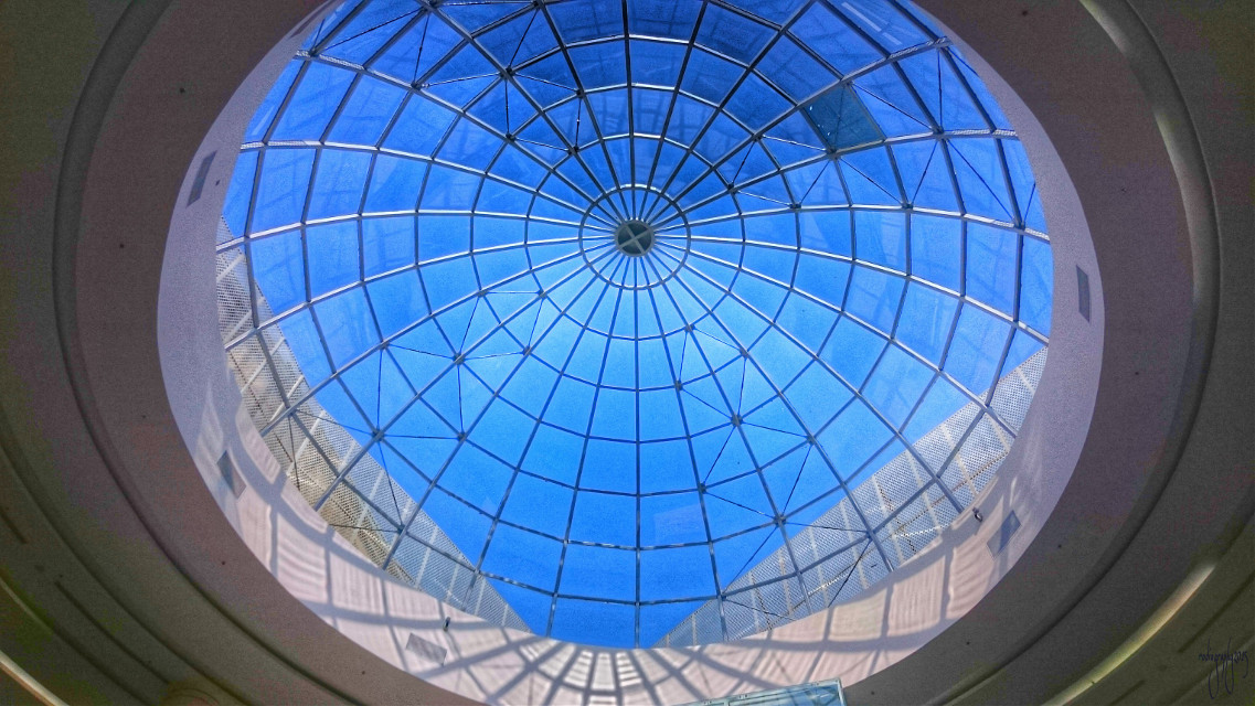 #ceiling #photography  #bluesky #architecture  #geometry #lines #circle