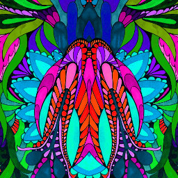 art colorful symmetry coloringbooks
