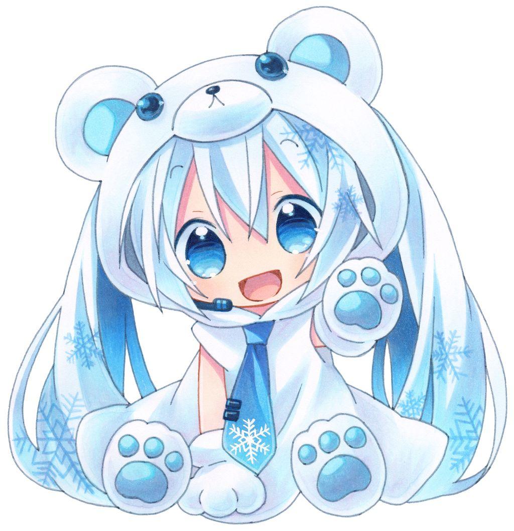 cute love neko chibi anime kawaii girl...  |Chibi Anime Neko Girl