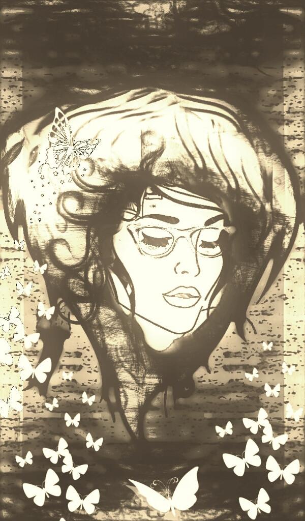 #Hair#drawtools#digitalart#clipart#sepia#freetoedit #collage#border  #zentangle #photography
