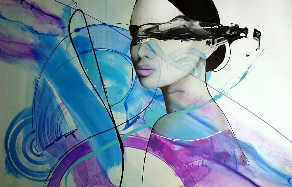 #art #artwork #blackandwhite #purple #blue #painting #artist #abstract #dailyinspiration #portrait