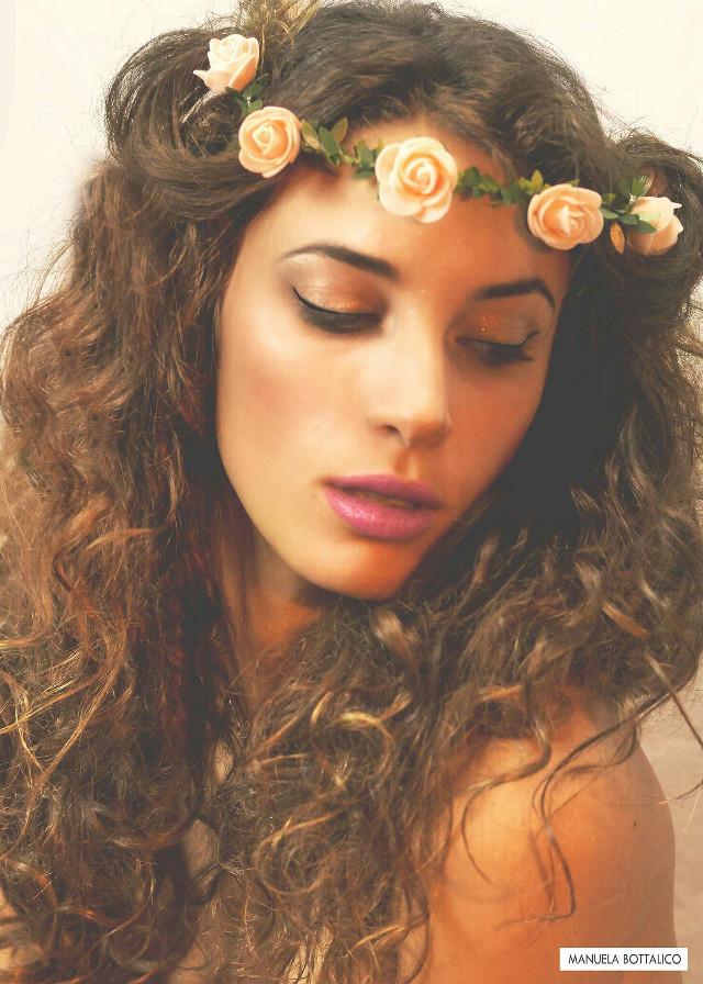 #Make up #roses #romantic #model #girl #beauty Face