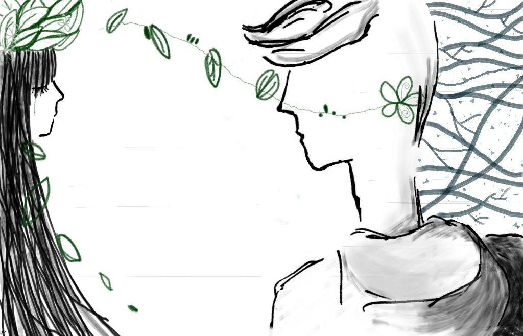 Tưởng như rất gần mà ngờ đâu đã rất xa • Now we are so close yet so far • #emotions #love #drawing #art #leaves #missing #crying #distance