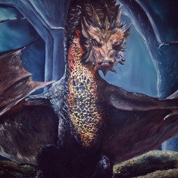 oilpaint thehobbit smaug dragon drawing