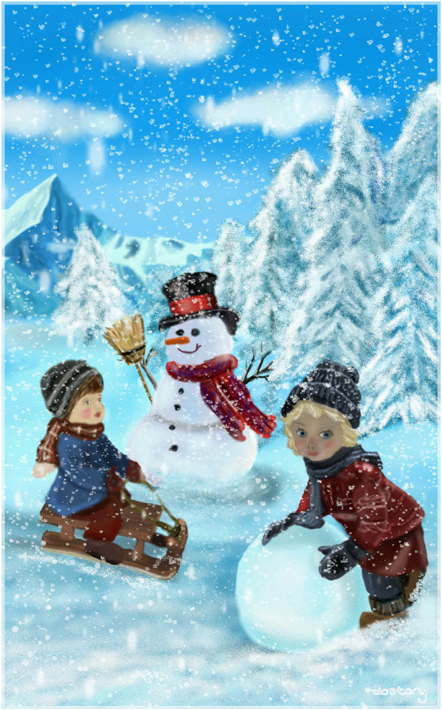 My first entry for the Weekly Drawing Project #wdpHoliday #drawing #snowman #Christmas #winter #snow  🔸5th Place🔸 thanks for your likes, reposts and for your wonderful compliments. Many thanks for your votes :-)