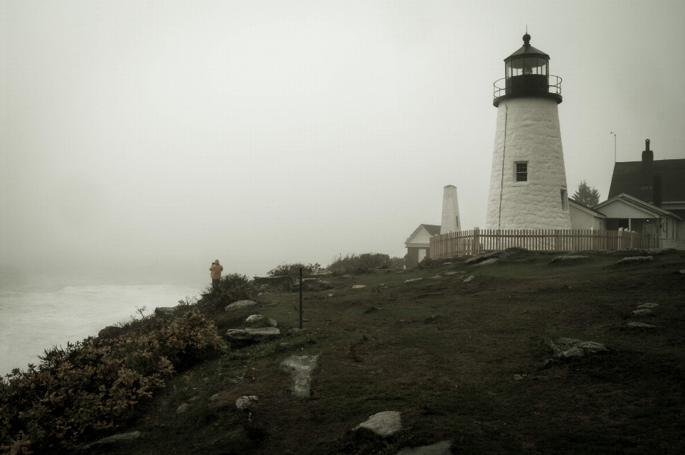 #travel #photography #landscape #lighthouse  #blackandwhite #architecture #fog