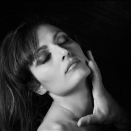 woman studio beauty softbox model