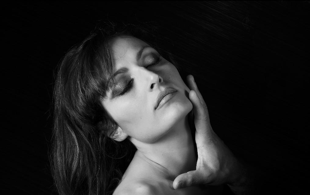 #woman #studio #beauty #softbox #model #Nikon #Portrait #photography #blackandwhite #emotions