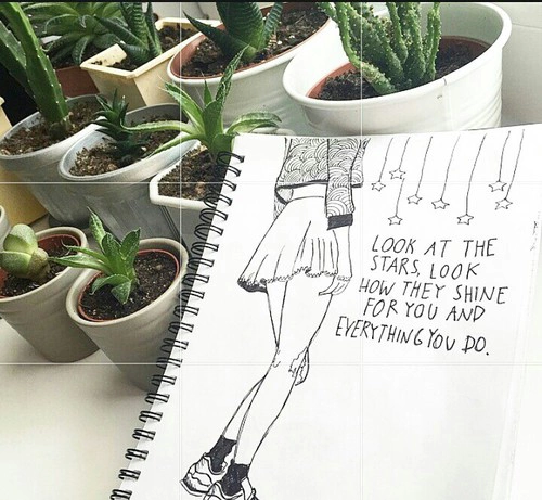 weheartit coldplay plants tumblr drawing
