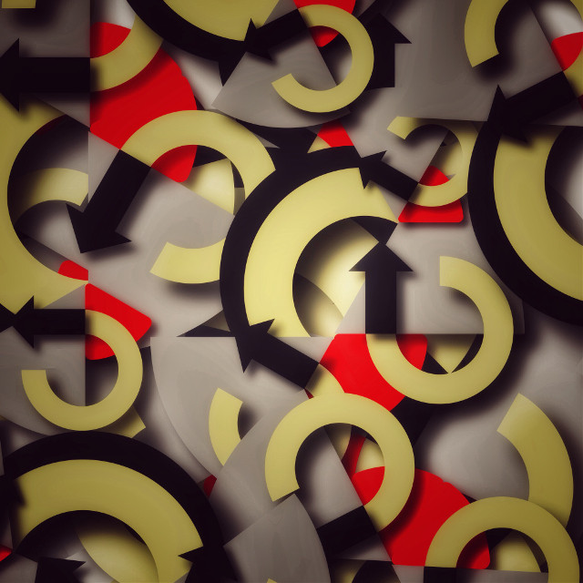 The #corners to #chaos #abstract #shapes #red #yellow