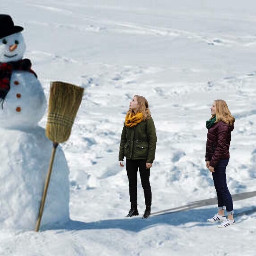 snow snowman photography