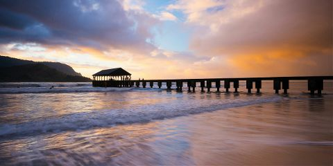kauai hawaii nature landscape sunset