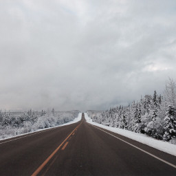 freetoedit highway road snow canada