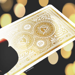 dailyinspiration colorcontrast gold card bokeh