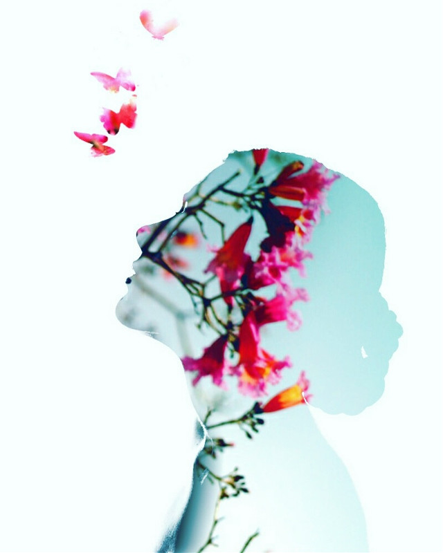 The simple things in life. ...  #emotions  #doubleexposure  #pretty  #pink  #art  #surreal  #flowers  #madewithpicsart  #myart