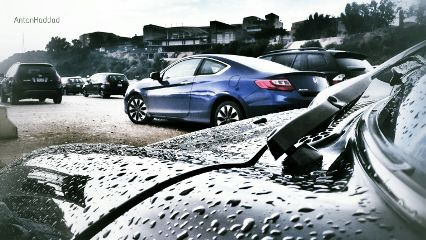 photography retro future car raindrops