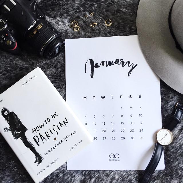 #flatlay #onaena #calendar