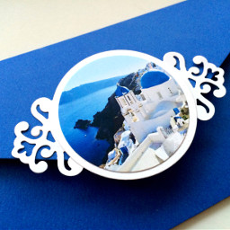 destination greece invitations travel blue