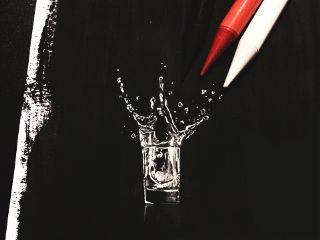 chaos splash drawing black paint