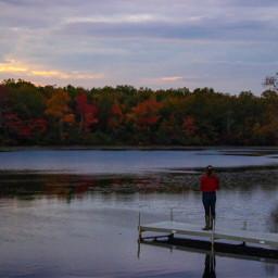park serenity stillness autumn fall