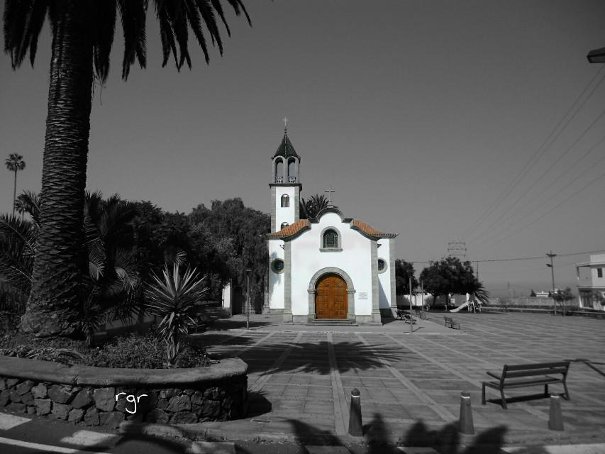 Tejina  Tenerife   #blackandwhite #colorsplash #photography