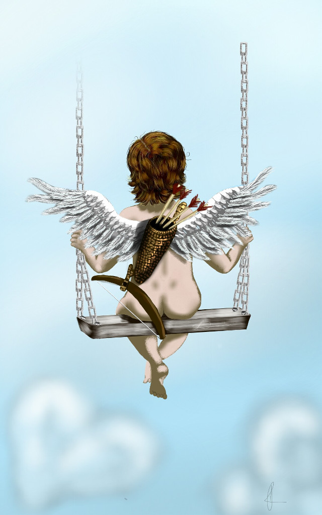 #drawing   #wdpcupid  Relaxing after a long day on the job... Love