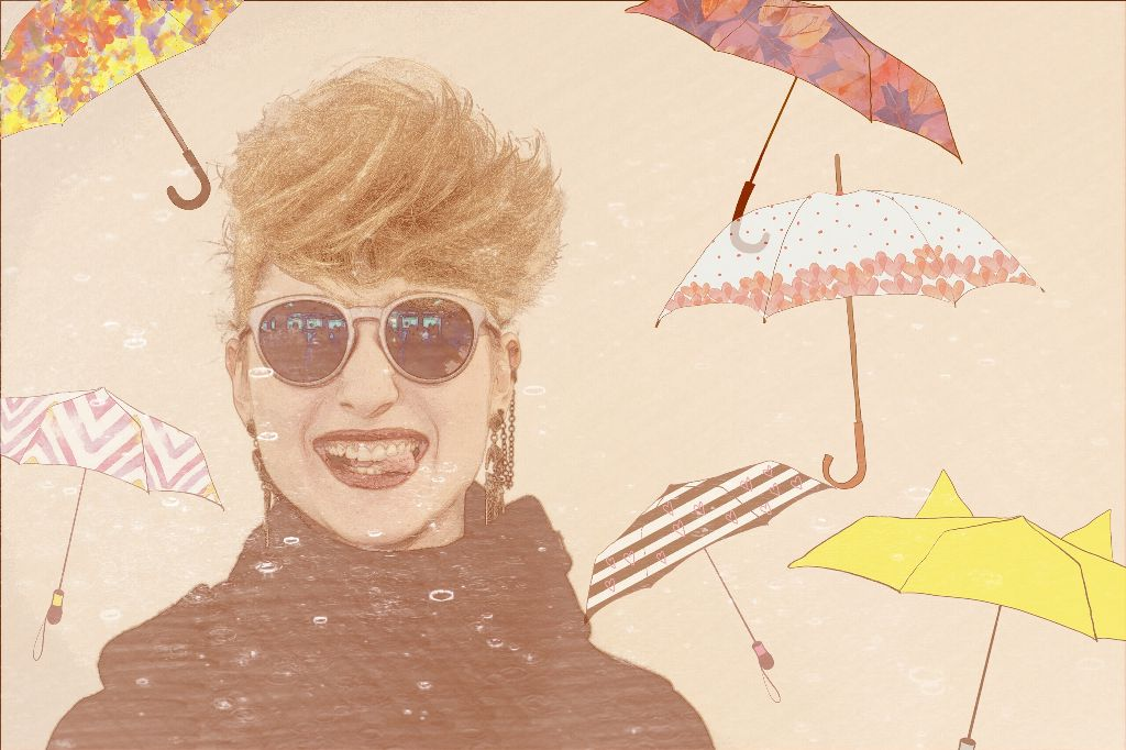 Another edit for @arevdanielian #wigs #royalwigs #edited #artisticselfie #umbrellas #people