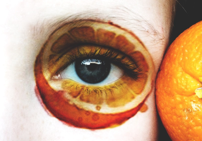 🍊tasty look #eyes #interesting #orange #art #watercolour #watercolor #nature #photography #people #fruits #creativity #freetoedit