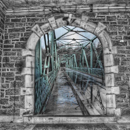 surrealistgate architecture bridge blackandwhite colorsplash