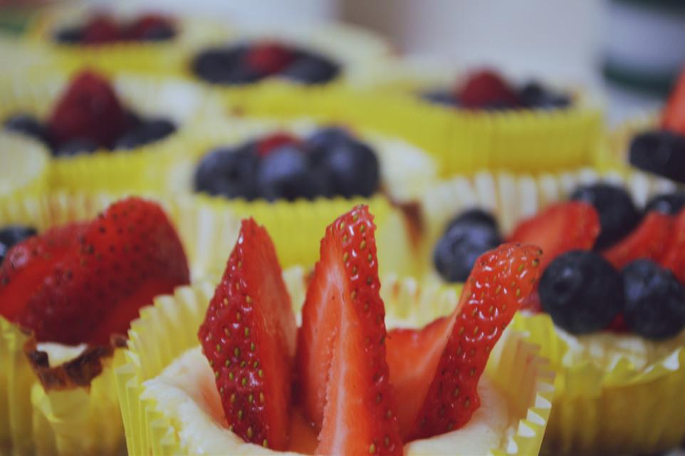 Friggin sweet cheescake tarts #baking #cheesecake #berries #imadeit #strawberry #blueberry #homemade