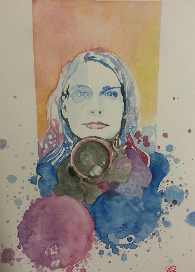 """""""Susan's Portrait"""" Watercolor Portrait Of My Friend Susan By Justin Frehs"""