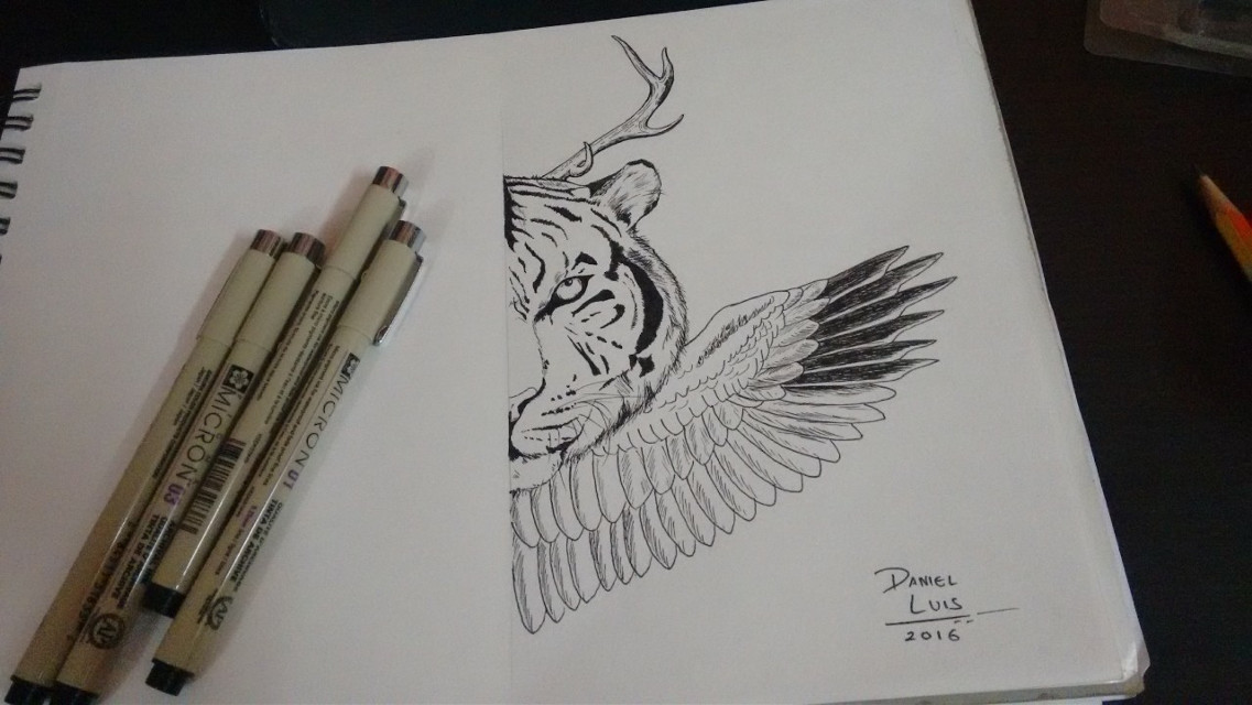 Late night Pen Art... Thanks for the awesome pen set sis! Jessica Luis