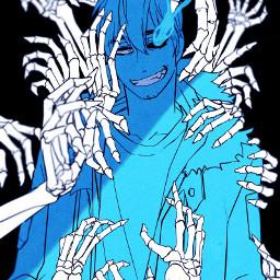 sans undertale genocideroute art blue