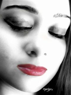 dailytag lips blackandwhite colorful colorsplash freetoedit