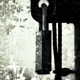 abstract art padlock