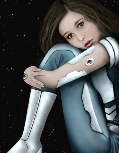 drawing girl space art digitaldrawing