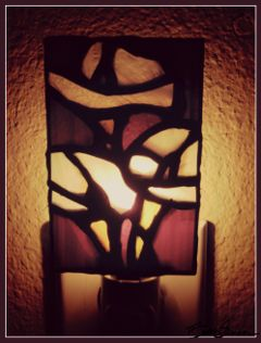 stainedglass myart myhobbies glass nightlight