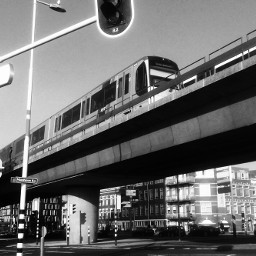 blackandwhite photography city street subway