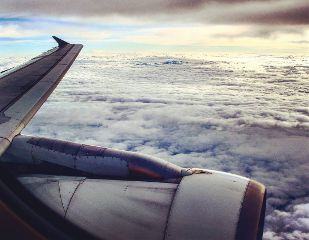 sky clouds airplane freedom shadow