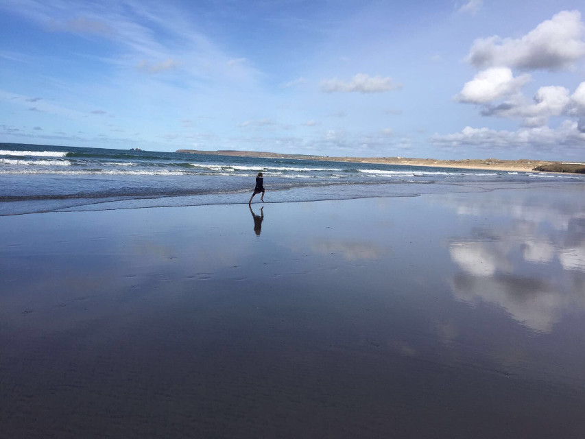 #running #free #seascape Carolyn's photo taken in #st Ives, Cornwall