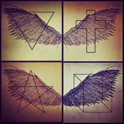 wings squared symbols pencil edited
