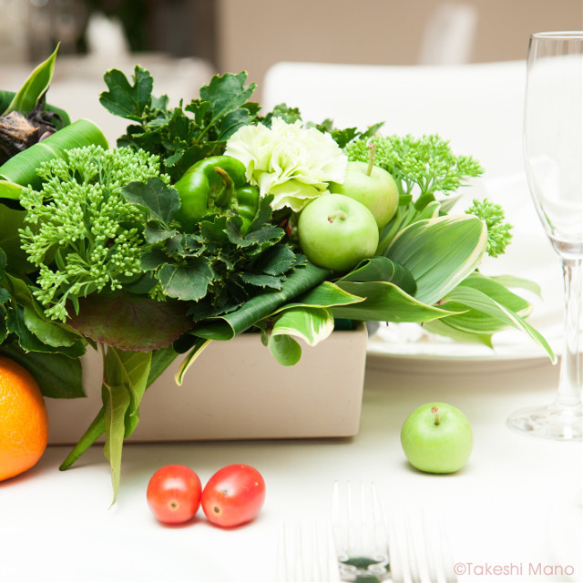 #wedding #vegetables #light #beautiful #green #japan #party #photography