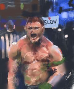 smackdown john painting man muscle