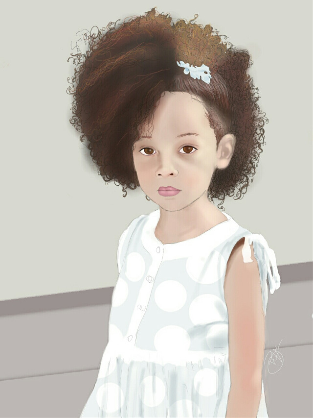 Digital painting. The hair drove me mad.  #cute #emotions #people #popart #portrait #model  #drawing   #hair