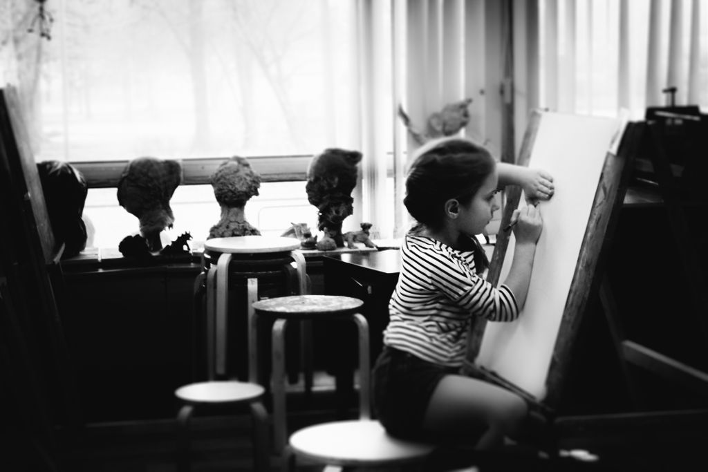 #child #art #school #blackandwhite