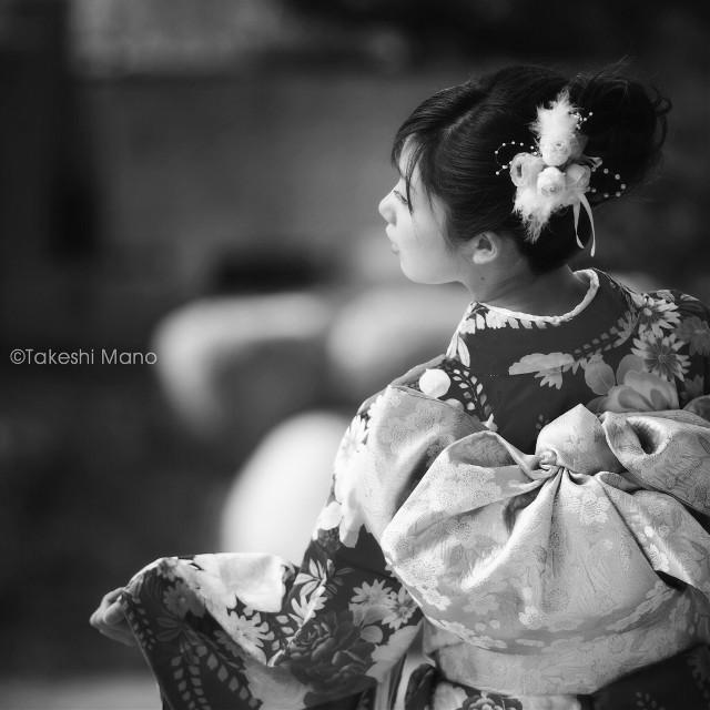 #japan  #kimono #beautiful #portrait #woman #girl #model #blackandwhite #black&white #monochrome #people