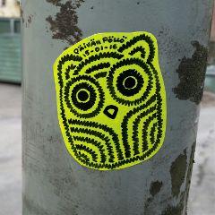stickers streetart owl
